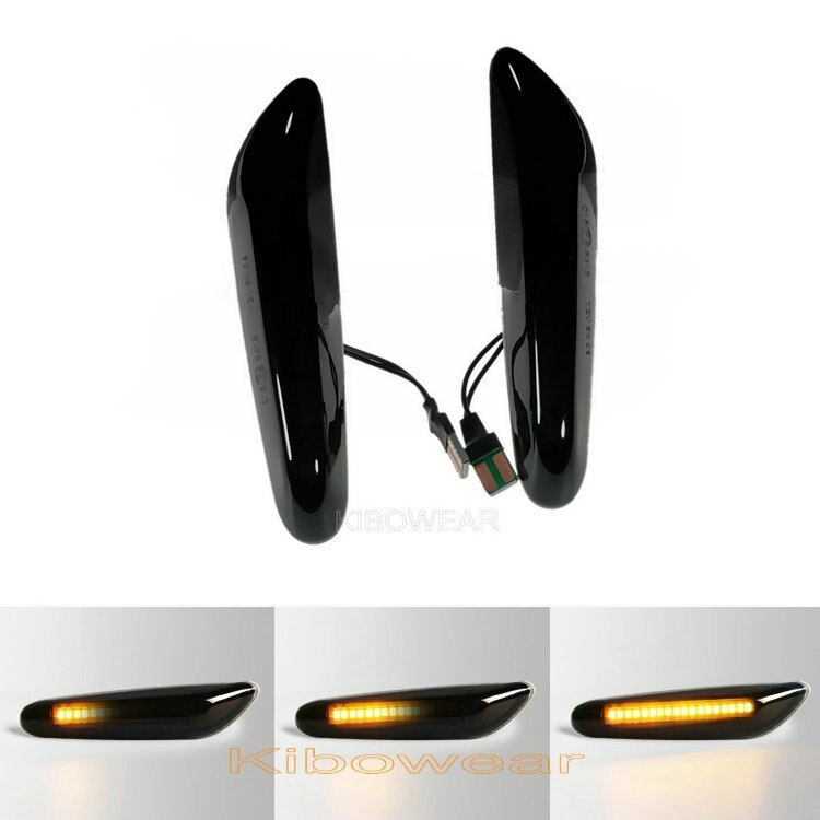 Indicatore laterale parafango a LED dinamico per BMW E60 E61 E90 E91 E87 E81 E83 E84 E88 E92 E93 E82 E46 1 3 5 serie x1 x3 2004 2010