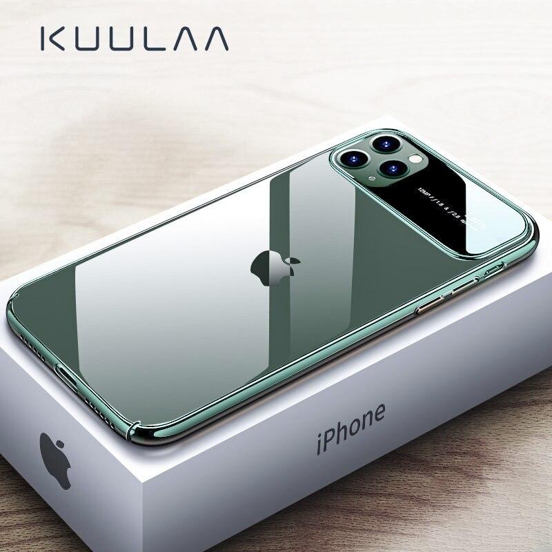 KUULAA для iPhone 11 Pro Max чехол роскошный зеркальный стеклянный чехол для телефона i Phone 11 ProMax противоударный жесткий чехол для iPhone 11Pro Max