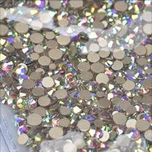 SS3-SS16 1440 Pcs Multi Size Glas Rhinestones Ab Kleuren Platte-Back SS3-SS10 Crystal Strass 3D Charmes Set Diy Manicure