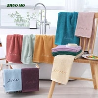 embroidered couple towel bathroom for adults 100 cotton love gift 3575cm for home super absorbent pink purple green towel