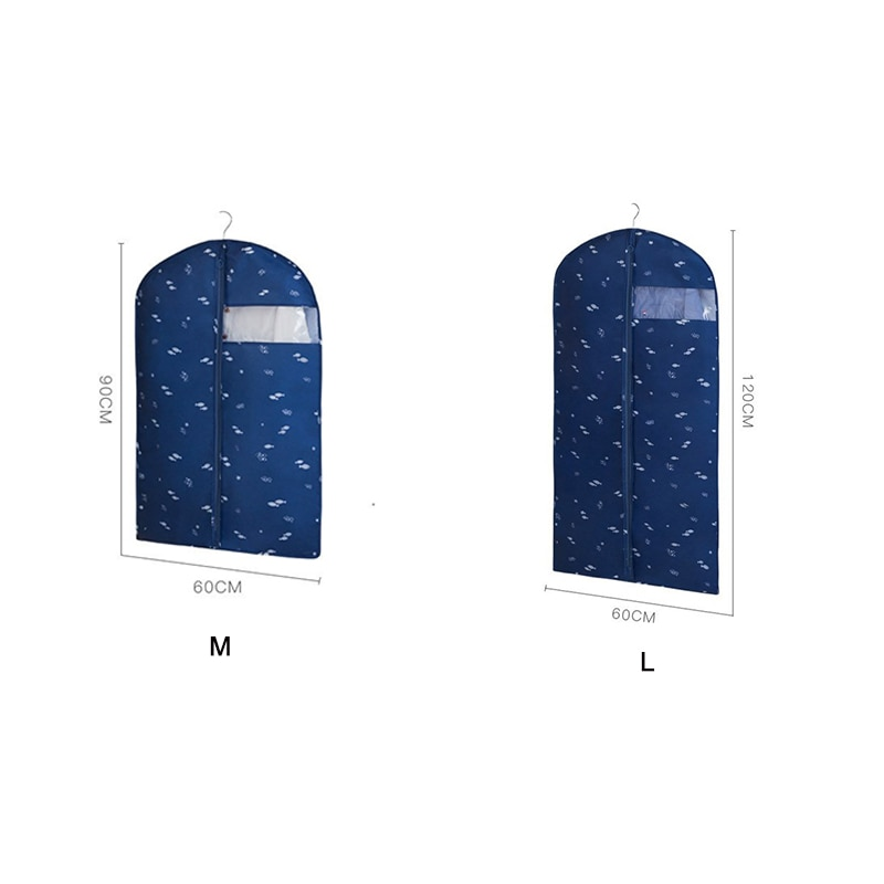 1 Piece Printed Clothing Dust Cover Colorful Suit Protector Bag Household Coat Storage Cover Closet Garment Coat Protector Case