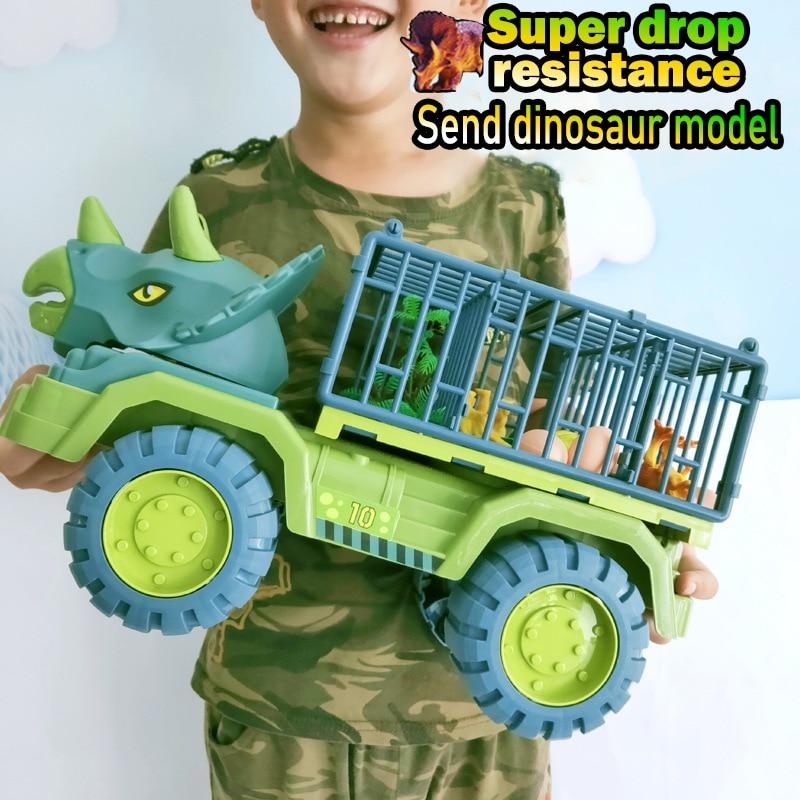 Автомобильный игрушечный динозавр, транспортировочный автомобиль, грузовик, игрушечный автомобиль, игрушечный автомобиль с динозавром, по...