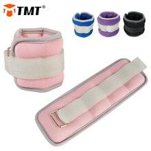 TMT 2 pezzi pesi da polso alla caviglia regolabile Sandbag polsini per piedi supporto di alimentazione cinturino manubri Crossfit forza allenamento gamba palestra corsa