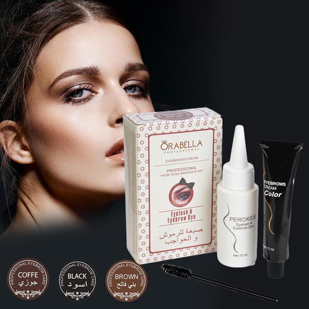 Eyebrow Dyeing  Dye Hair Dye Long-Lasting Non-Fading Hair Eyelashes Dye Powder Eyebrow Hair Coloring Product Cream