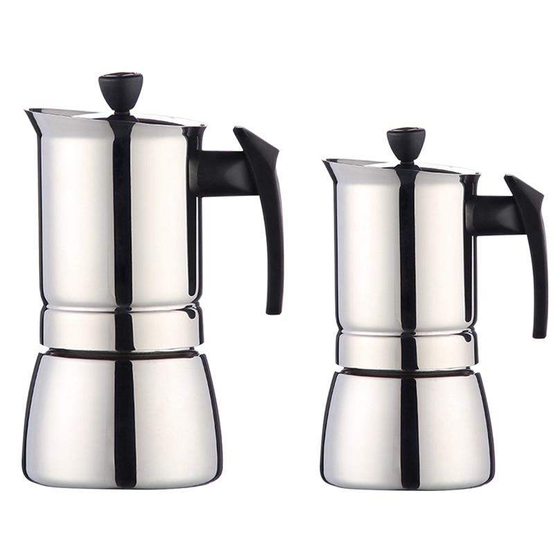 NHBR موكا اسبريسو لاتيه Percolator موقد صانع القهوة وعاء المقاوم للصدأ وعاء لتقديم القهوة من الفولاذ Percolator أداة الشراب