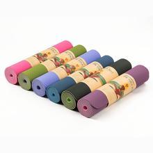 HiMISS одеяло для йоги двухцветное TPE Защита окружающей среды без запаха утепленный спортивный коврик