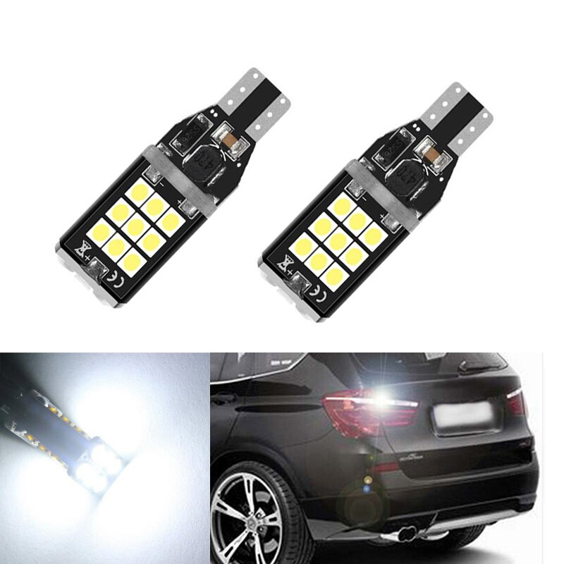 2x Super Bright T15 W16W 921 24 SMD LED 3030 Car Auto Canbus Reverse Light Reversing Lighting Back up Lamp