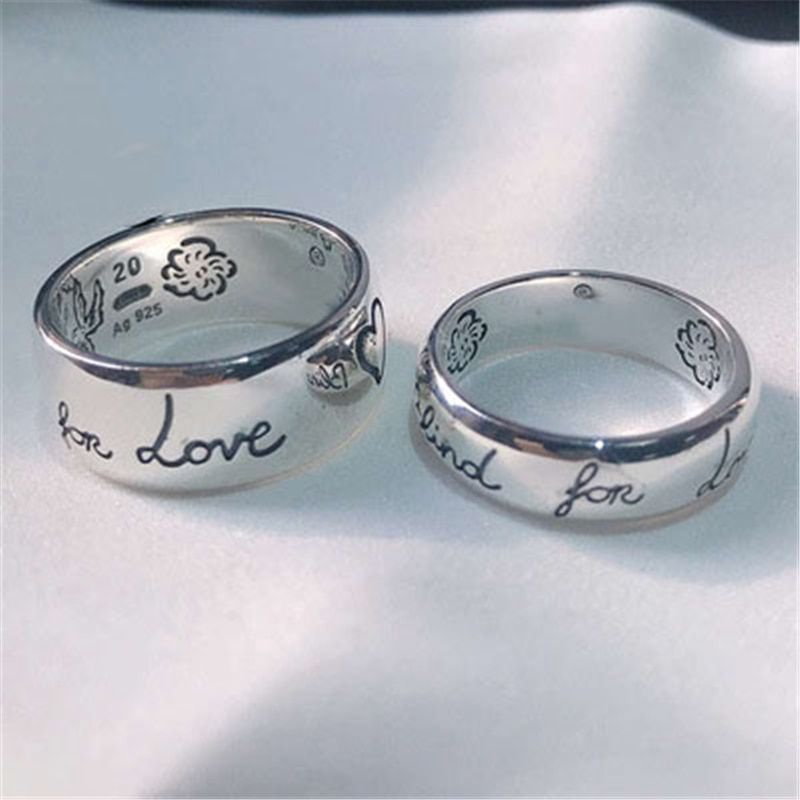 ZEF 925 فضة جديد حار الحب خاتم الخوف ، الكلاسيكية شعار charm المجوهرات الأصلية ، وإرسال صديقة هدية
