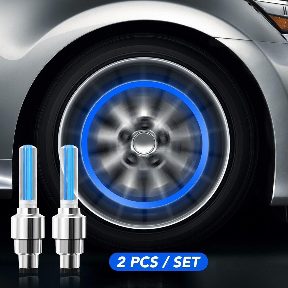 Válvula de rueda neumático Cap Flash lámpara de luz LED para nissan x-trail t32 renault megane 3 kia sorento Lada Kalina bmw accesorios Chiaro