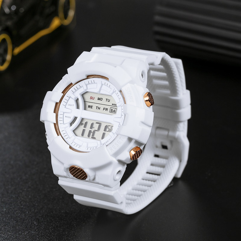 Sports Men Women Watches 10pcs Casual Digital Waterproof Watch Lover's Gift Clock Children Kid's Wristwatch Female Clock Reloj