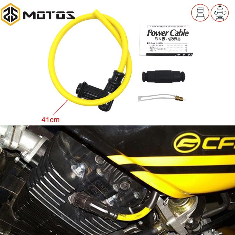 ZS MOTOS bobina de encendido tapa de bujía de encendido conjunto de cables de bujía de motocicleta bobina de carrera de encendido NGK para moto de Motocross moto de cross