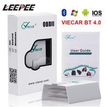 Считыватель кодов LEEPEE Viecar ELM 327 V1.5 OBD2, Bluetooth 4,0, сканер OBDII, автомобильный диагностический инструмент для Android/IOS