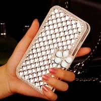 leather flip case for samsung galaxy s20 ultra 5g s9 plus diamond wallet leather cover s8 s7 s6 edge s5 neo soft card holder