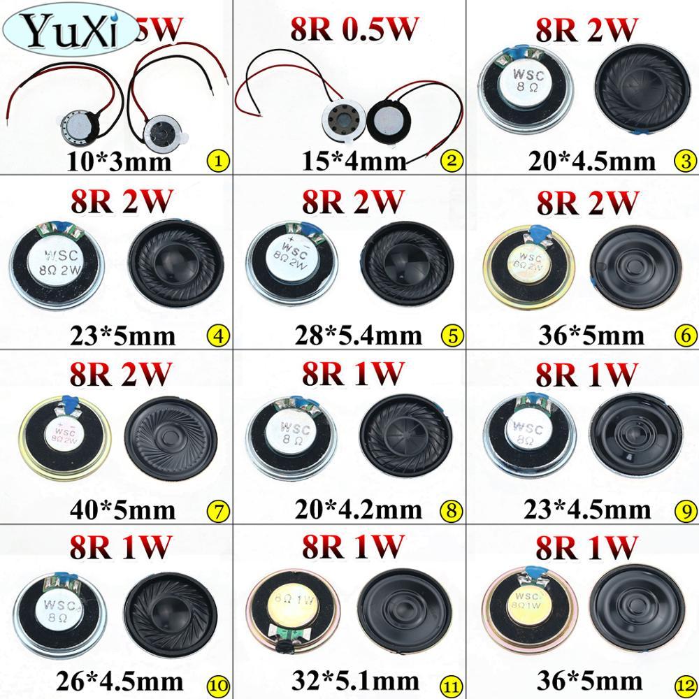 YuXi 0,5 Вт 1 Вт 2 Вт 8R мини-динамик 8 Ом ультратонкий громкоговоритель диаметром 10 мм 15 мм 20 мм 23 мм 26 мм 28 мм 32 мм 36 мм 40 мм громкоговоритель