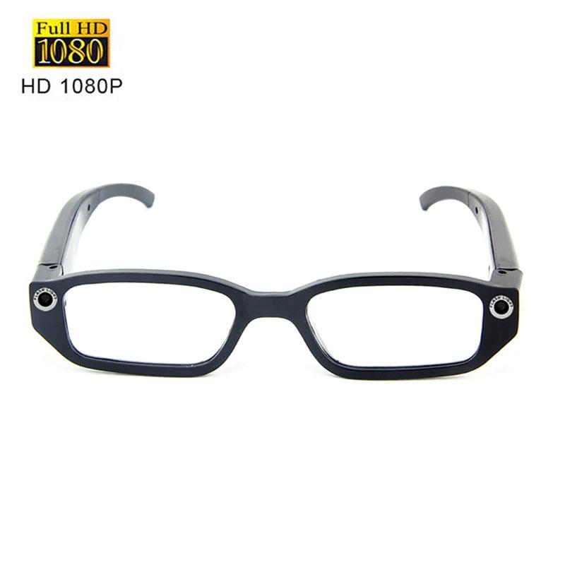 نظارات كاميرا HD 1080p حقيقية ، كاميرا فيديو صغيرة DV يمكن ارتداؤها