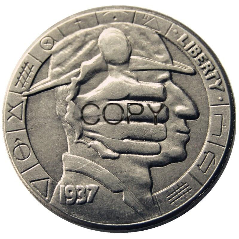 Бу (15) Хобо никель 1937-D 3-леггинсы Буффало никель редкий креативный Забавный копия монеты