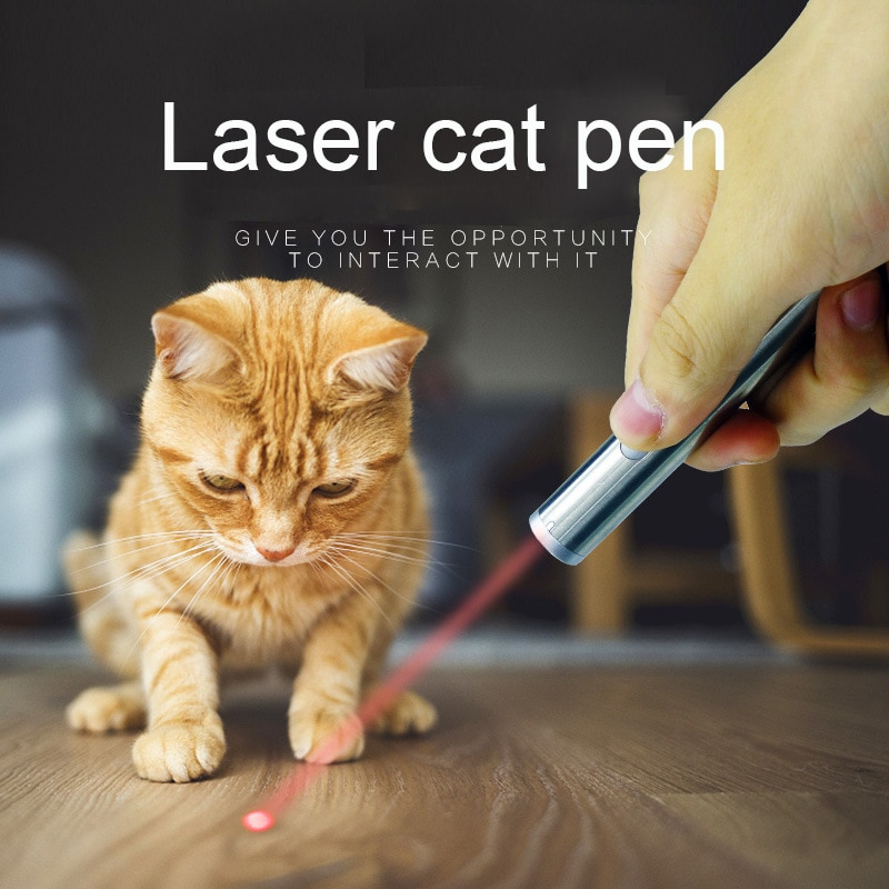 Pet Toy Cat Toy Creative And Funny Pet Cat Toys LED Pointer Light Pen With Bright Pet Tickle Stick Interactive Cat Toy LED Lamp