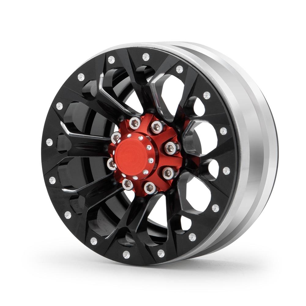 AXSPEED 1,9 zoll Metall Beadlock Rad Felgen für 1/10 Skala AXIAL SCX10 D90 CC01 TRX4 RC Crawler