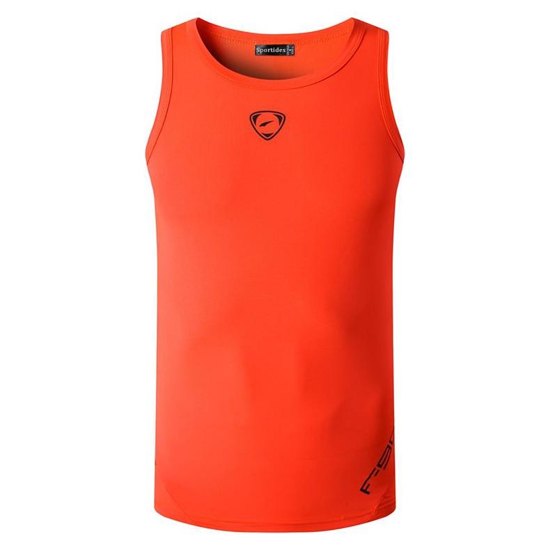 Blusas sin mangas para correr Grym entrenamiento Fitness ajustada compresión LSL3306 naranja