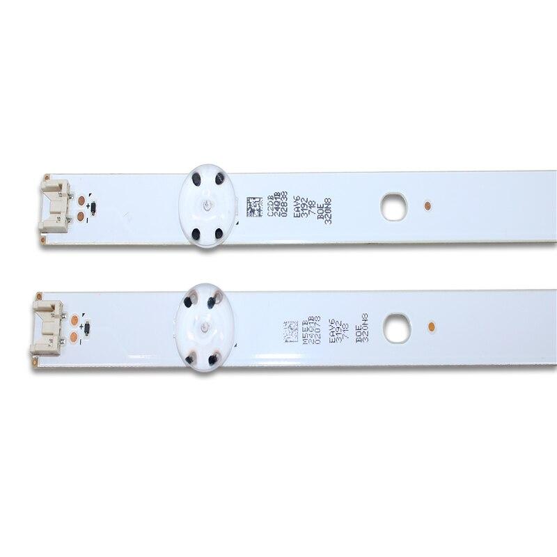 10 قطعة 5 المصابيح 590 مللي متر LED الخلفية قطاع ل LG 32LF510B Innotek مباشرة 32 بوصة CSP 32LH510B 32LH51_HD S SSC_32INCH_HD