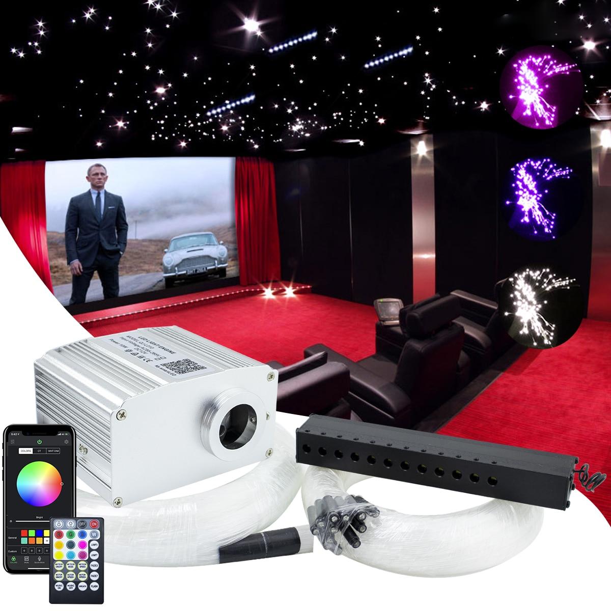 10W وميض التطبيق الألياف البصرية ضوء عدة 450 قطعة * 0.75 مللي متر * 3M مع رماية نجمة led