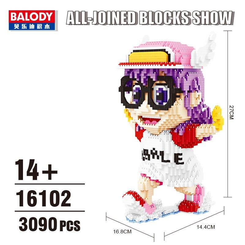 Balody мини-кубики Arale аниме аукцион фигурки Мультяшные кирпичи строительные игрушки для детей рождественские подарки подарок девочке