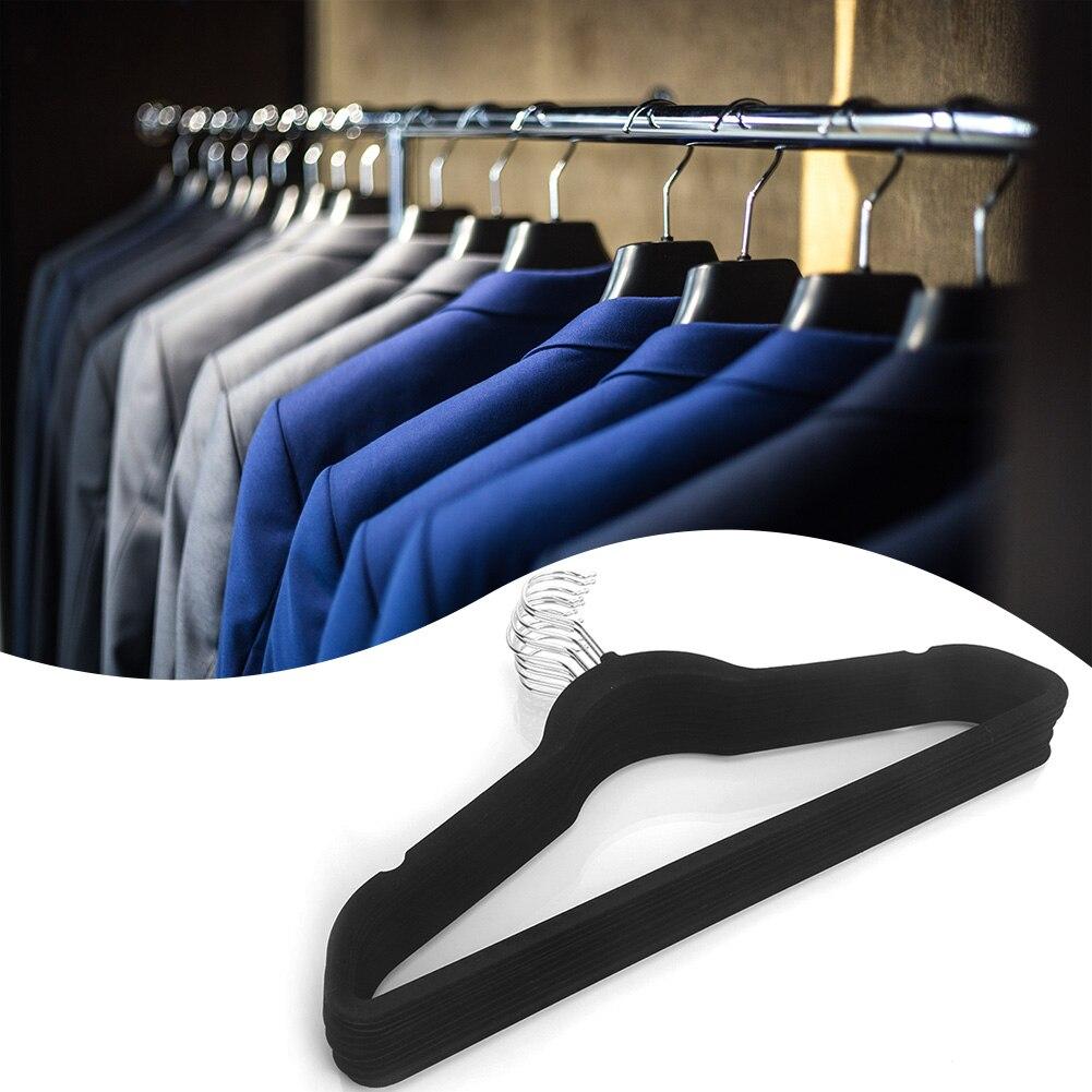 10 Uds antideslizante de plástico percha para ropa portátil multifunción bastidores de...