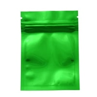 100pcslot 7 5x10cm green mylar zip lock package bags heat sealable smell proof aluminum foil food bag tea coffee powder bags