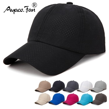 New Simple Baseball Cap Quick Drying Hats Men Women Summer Sunhat Unisex Breathable Sports Solid Color Snapback Baseball Hat