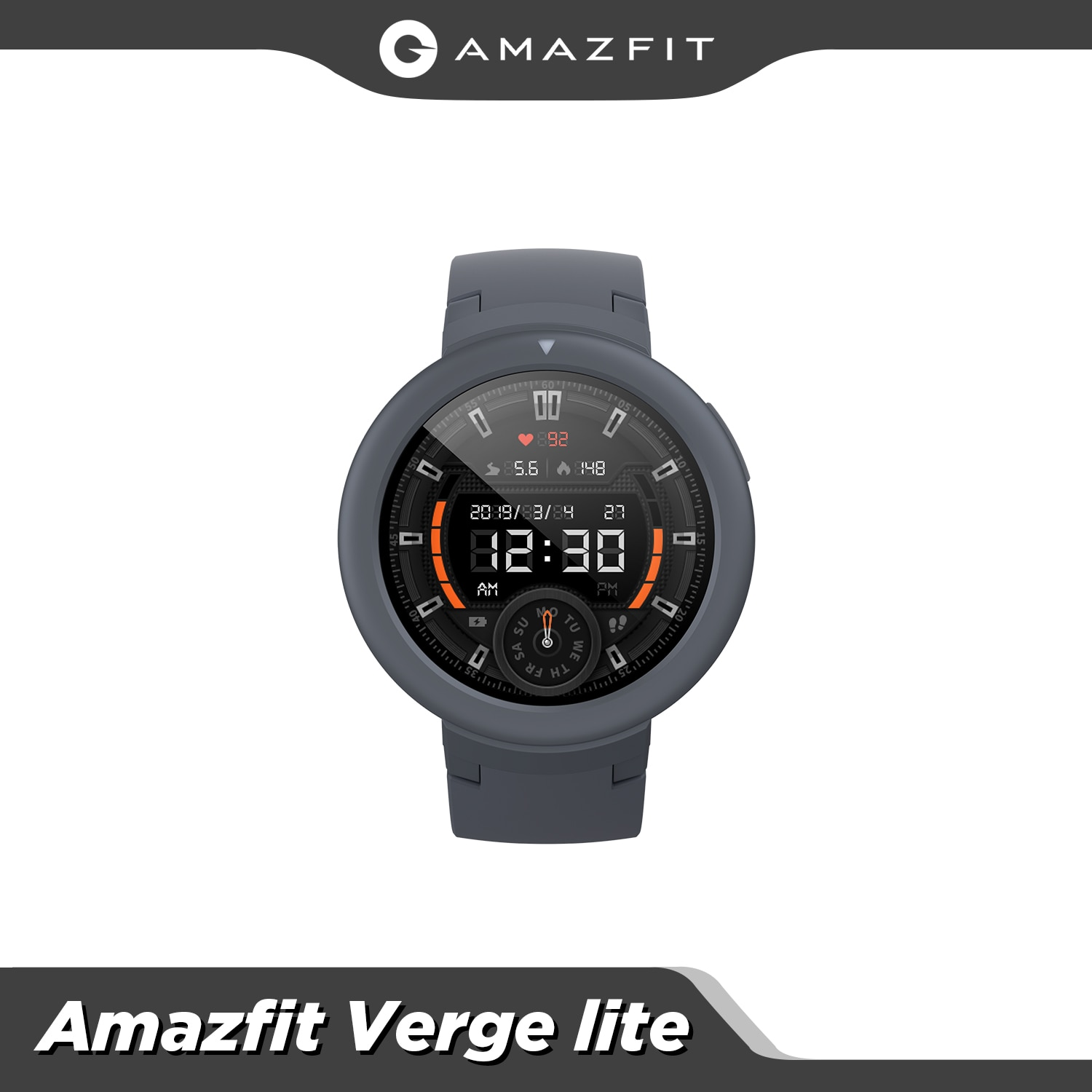 In stock Global Amazfit Verge Lite Smartwatch IP68 Smart Watch GPS GLONASS Long Battery Life AMOLED Display for Android iOS