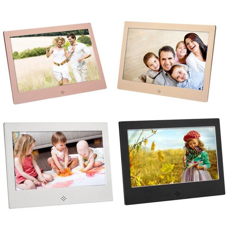 10 Inch Metalen Led Digitale Fotolijst 720P Video Muziek Kalender Klok Speler 1024X600 Resolutie enlarge
