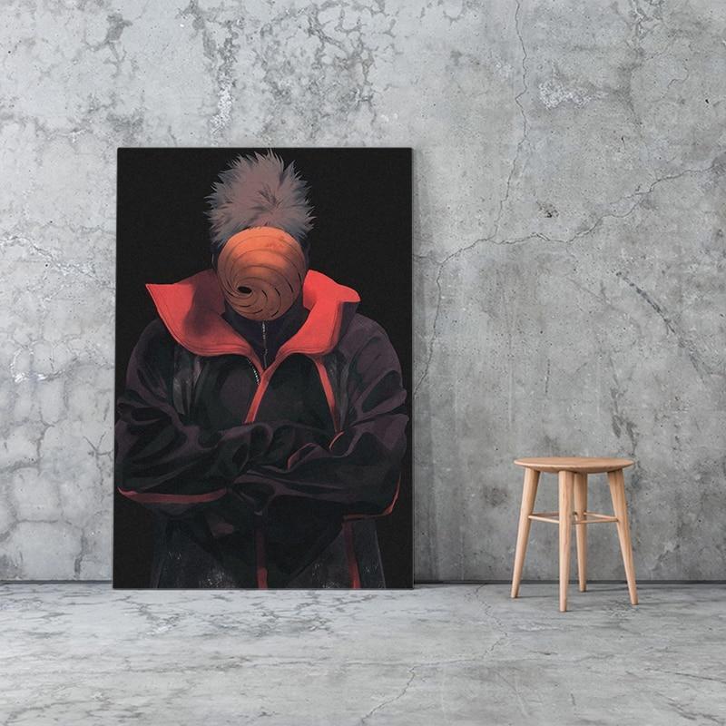 Póster de lienzo con imagen de Obito Uchiha naruto anime, Arte de la pared Decoración, sala de estar, dormitorio, estudio, decoración del hogar, impresiones