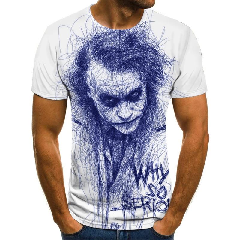 Camiseta de payaso para hombre/mujer cara de Joker con estampado 3D de...