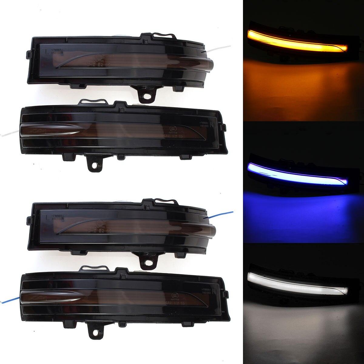 2 uds dinámica luz LED de intermitente espejo del indicador intermitente lámpara para Ford EDGE 2015, 2016, 2017, 2018, 2019