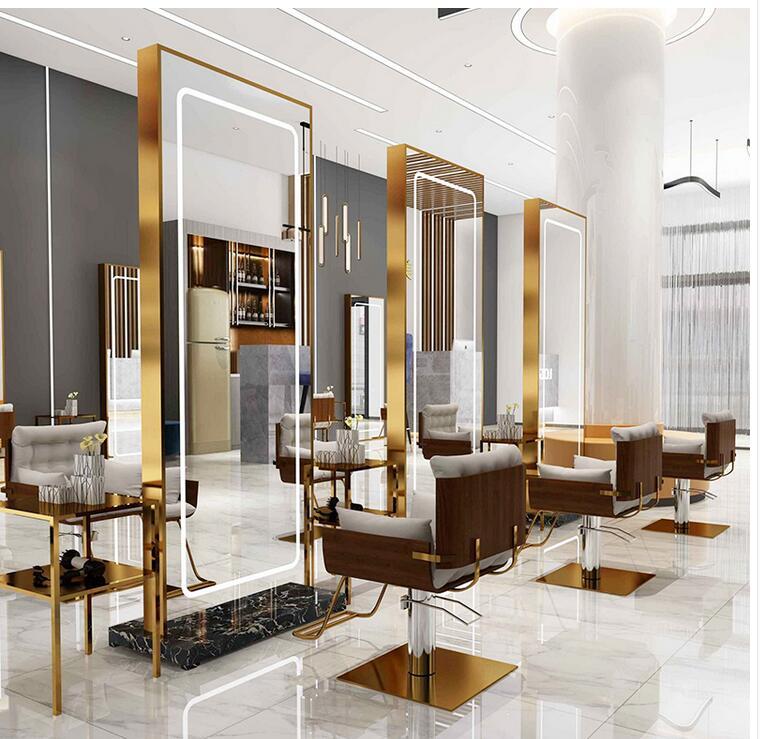 صالون الحلاقة مرآة الويب المشاهير بسيط الطابق إلى السقف مرآة مجلس الوزراء جدار جدار الشعر صالون مرآة مخصصة الأزياء