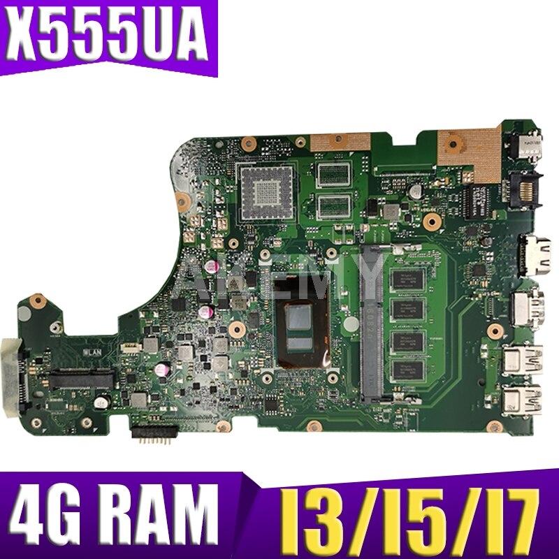 X555UA اللوحة 4GB RAM I3/I5/I7 ل ASUS X555 X555U X555UA X555UV اللوحة المحمول X555UA اللوحة X555UA اللوحة