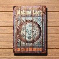 Mrs Leota     affiche dart en metal  signe en etain  decoration de signalisation  Vintage  cinema prive  couloir  decoration de la maison  Plaque 12 8 pouces