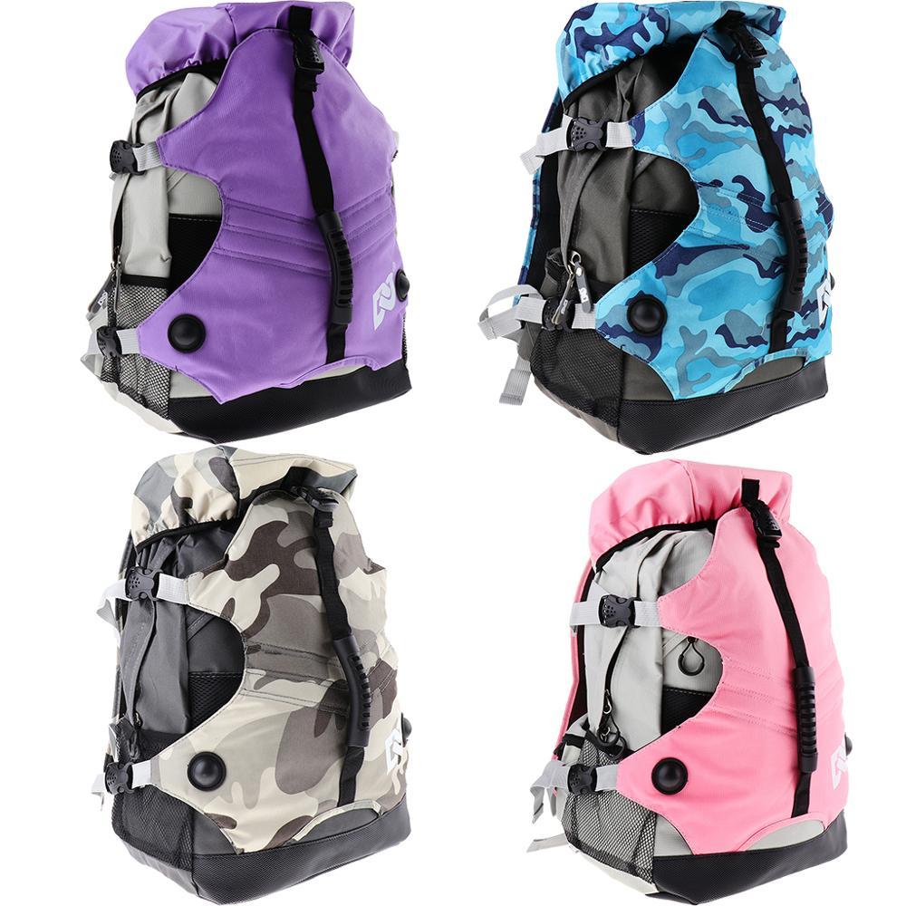 Professional Roller Skates Backpack Inline Skates Skating Shoes Boots Carry Bag Durable Multi-pocket