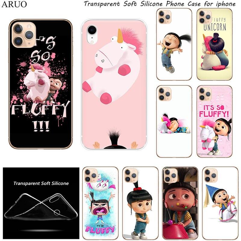 Funda de teléfono de silicona para iphone 12 11 11Pro XS Max X XR SE2020, fundas blandas My Fluffy de unicornio de Agnes para 7 8 6s Plus, funda 5S