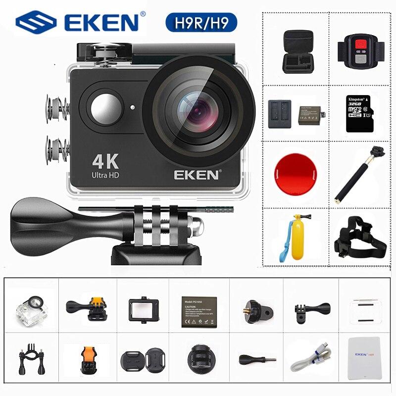 Original EKEN H9 H9R Action Kamera 4K/30FPS 1080p/60fps 20MP Ultra HD Mini Helm Cam wiFi Wasserdichte Sport Kamera