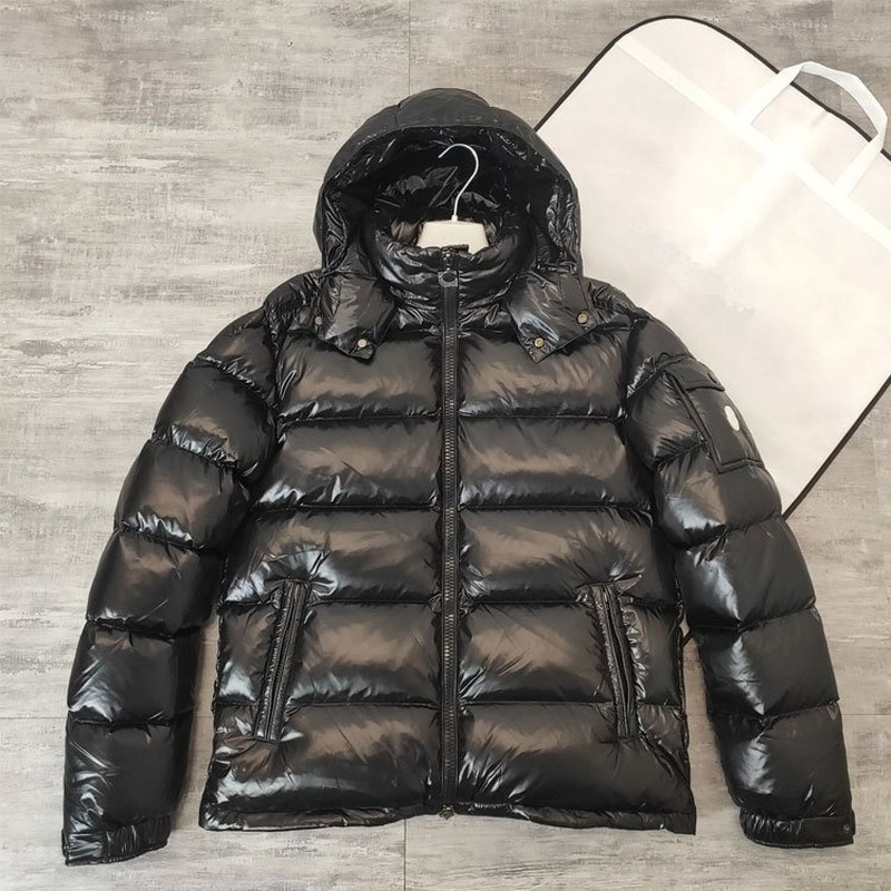The New Down Jacket Men's Short Plus Plus Thick Gold Hood Maya Winter Warm Casual Jacket