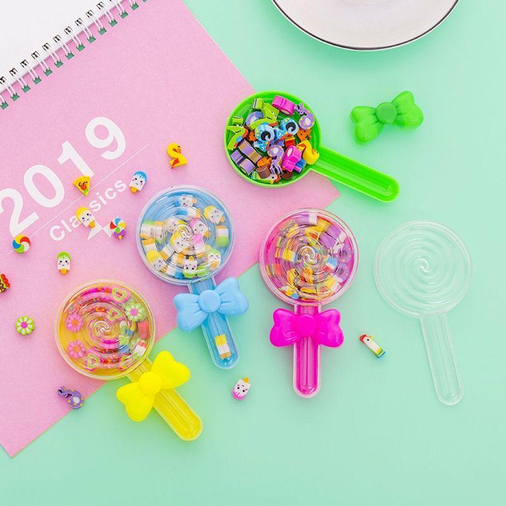 Borrachas bonitas de doces, mini borrachas de desenho animado, caixa coreana de elogios, presentes de correção de papelaria, 24 peças