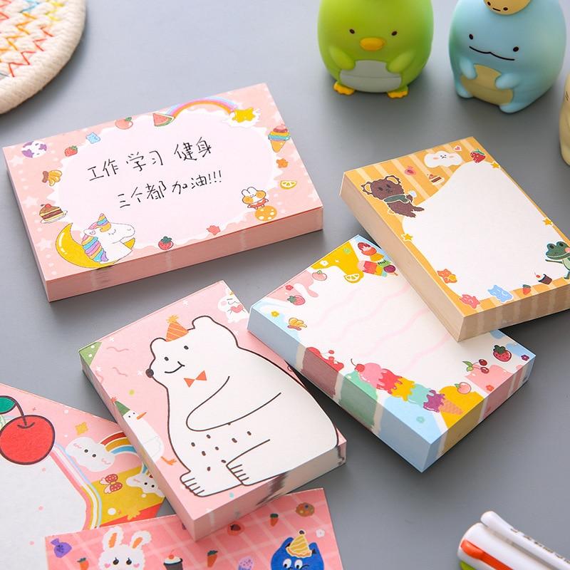 50/100 листов, Милые Симпатичные блокноты для записей, милые декоративные блокноты для записей, канцелярские принадлежности для офиса и школы