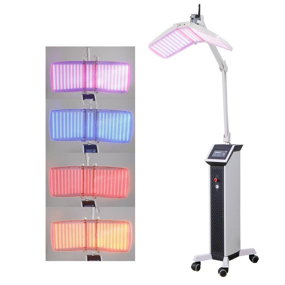 Led pdt 7 color led pdt terapia de bio-luz/máquina de terapia de acné de luz azul