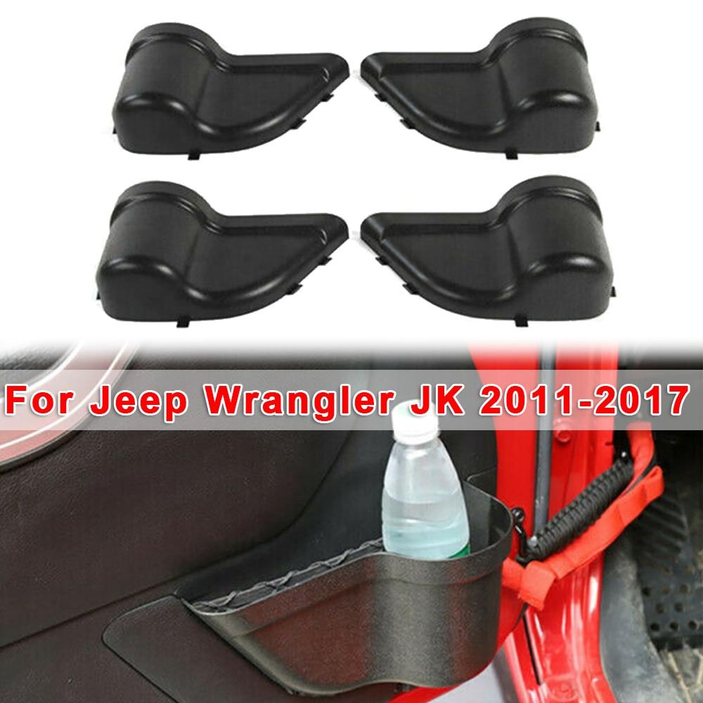 Organizador de botellas de coche cajas de almacenamiento soporte de taza caja de almacenamiento de costura de asiento para Jeep Wrangler JK 2011-2017 piezas interiores negras