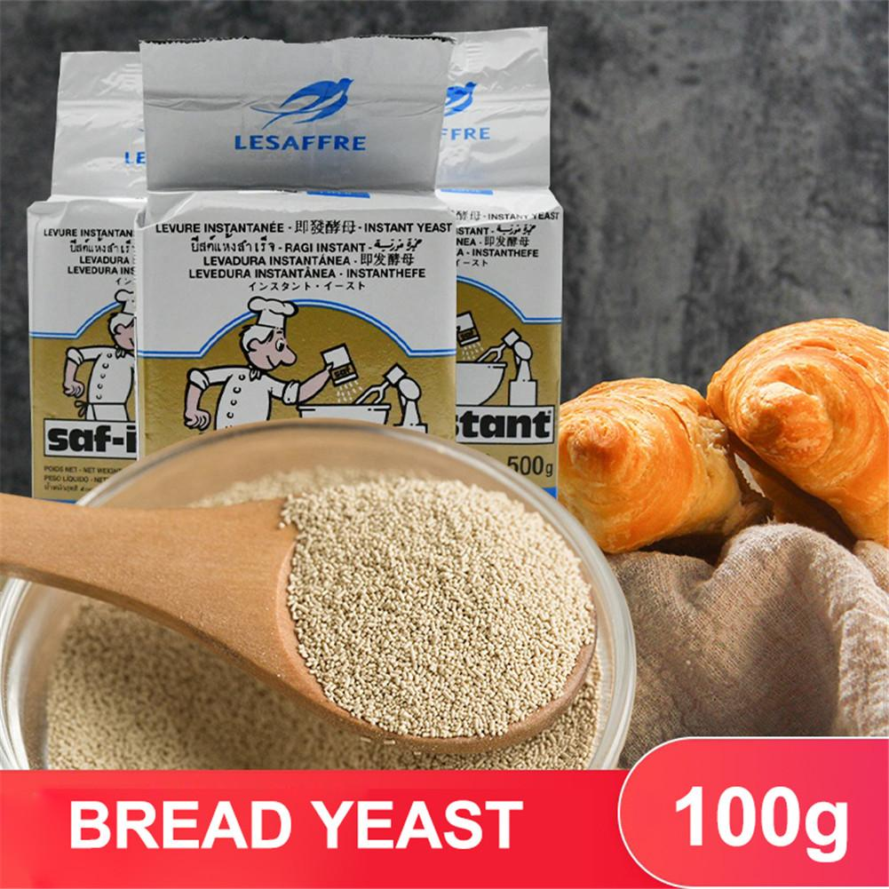 Nova chegada 100g fermento instantâneo altamente ativo fermento imediato seco para pão, fermento instantâneo cozinha cozimento & pastelaria ferramentas