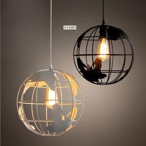 Industrial Style Retro Chandelier American Country Restaurant Living Room Bar Table Lighting Wrought Iron Globe Bar Art Lamp