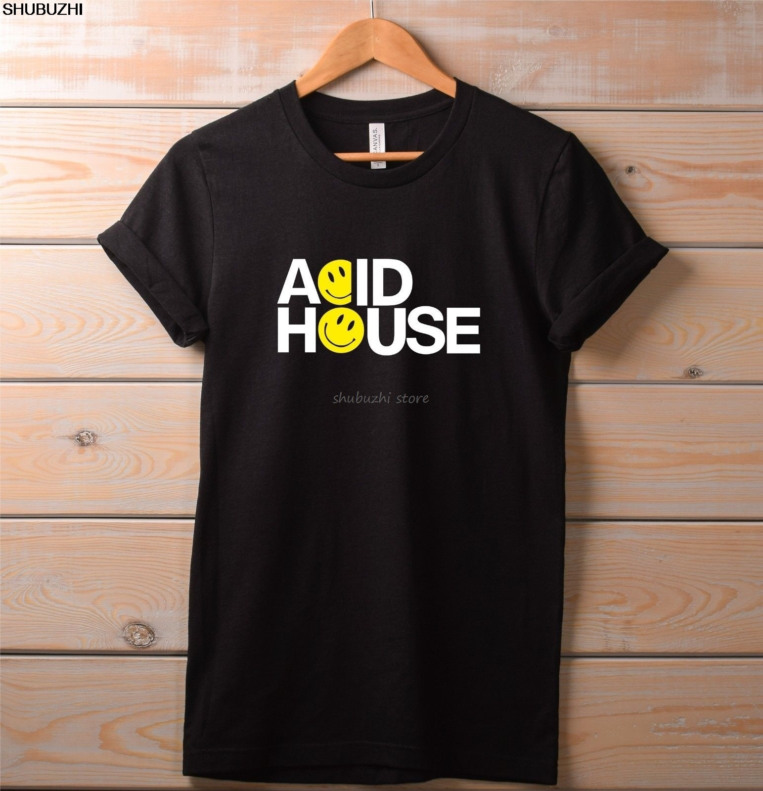Camiseta Acid House. Música rave top Fiesta de verano festival drum n bass fantazia Casual orgullo t camisa de los hombres Unisex sbz1393
