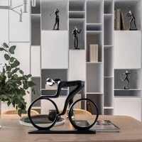 sports competition bicycle statue champion cyclist sculpture figurine resin modern abstract art athlete bicycler home decor