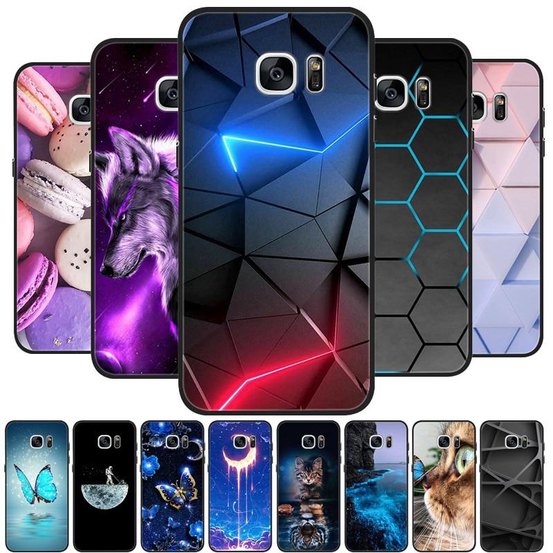 For Samsung Galaxy S7 Edge Silicone Case Cute Pattern Soft TPU Phone Cover For Samsung Galaxy S6 S7